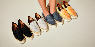 Various colours of Franco Sarto shoes