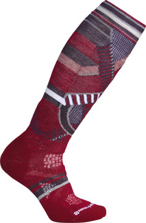 Smartwool - WOMEN'S PHD SKI MEDIUM PATTERN TIBETAN RED