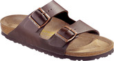Birkenstock Arizona Birko Leather Sandals In Brown