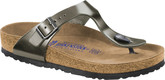 Thong Style Birkenstock Gizeh Metallic Sandals with Comfortable Outsole