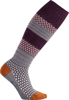 Smartwool - WOMEN'S POPCORN CABLE KNEE HI BORDEAUX