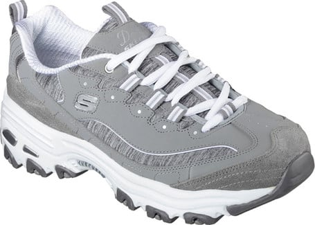 Classic Comfortable Dlites Me Time Grey Shoes by Skechers