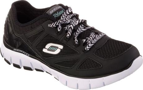 024168b95120 SKECH FLEX ROYAL FORWARD BLACK - Quarks Shoes