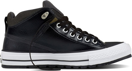 e2299c48747bae Converse - CHUCK TAYLOR ALLSTAR STREET BOOT LEATHER HIGH BLACK