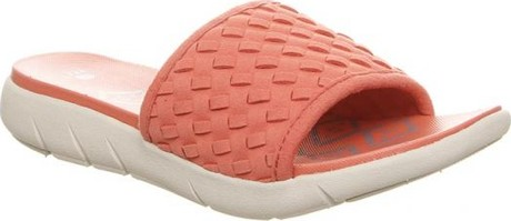 45c91f60d252 Bearpaw - DELPHINE CORAL. Microfiber upper with woven finish slide ...