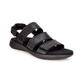 Ecco - SOFT 5 THREE STRAP BLACK