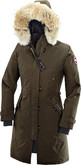 Canada Goose Fleece Lined Kensington Parka Military Hood for Winters