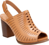 Clarks Briatta Key Light Tan with Slingback Heel
