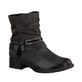 FLAT GRAPHITE BOOT WITH STRAPS