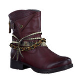 BORDEAUX BOOT W/ BRAIDED STRAP