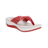 Clarks - ARLA GLISON RED W/WHITE DOTS