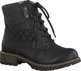 Jana - LACE UP ANKLE BOOT BLACK