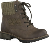 Jana - LACE UP ANKLE BOOT CAFE