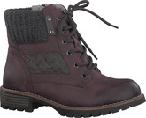 Jana - LACE UP ANKLE BOOT BORDEAUX