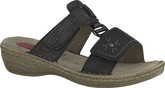 Jana - BLACK SLIDE SANDAL