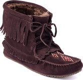 Manitobah Mukluks - HARVESTER LINED DARK BROWN