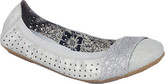Stylish Rieker Grey Balerina Flats with Floral Embroidery