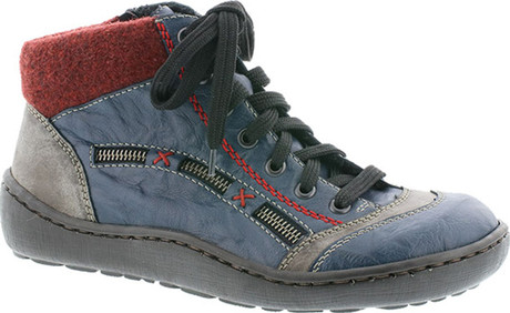 Rieker - 44443-14 - BLUE/RED/GREY LACE UP BOOT