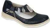 Gorgeous Mary Jane Black Shoes from Rieker with Leather Insole