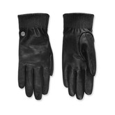 Canada Goose - LADIES LEATHER RIB GLOVE BLACK