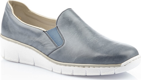 NAVY DOUBLE GORE SLIP ON - Quarks Shoes