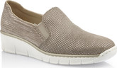 Rieker - GREY DOUBLE GORE SLIP ON