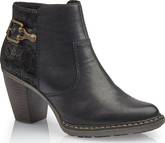Rieker - BLACK HEELED BOOT W/HARDWARE