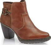 Rieker - TAN HEELED BOOT W/HARDWARE