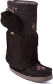 Manitobah Mukluks - SNOWY OWL WP DARK BROWN