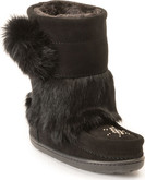 Manitobah Mukluks - SNOWY OWLET BLACK YOUTH WP