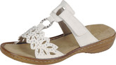 Women's Rieker White Sandals with Adjustable Strap
