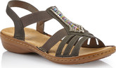 Rieker - GREY ELASTIC SANDAL WITH BEADS