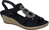 Rieker - BLACK WEDGE SANDAL