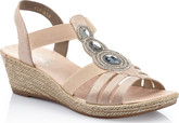 Rieker - ROSE GOLD WEDGE SANDAL