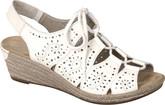 Rieker - WEDGE LACE UP SANDAL WHITE