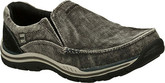 Comfy Avillo Black Shoes from Skechers with Soft Fabric Lining
