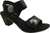 Rieker - 2 BUTTON SANDAL SMOOTH BLACK