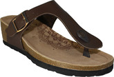Quarks - WEDGE TOE THONG BROWN SMOOTH