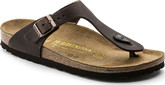Birkenstock Gizeh Havana Comfortable Leather Sandals