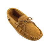 DARK TAN SUEDE-MOOSE HIDE TRIM