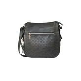 PERFORATED CROSS BODY BLACK