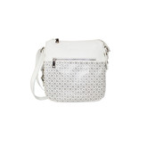 PERFORATED CROSS BODY WHITE