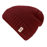 The North Face - PURRL STITCH BEANIE BAROLO RED