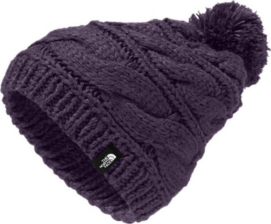 d8e4e991182 The North Face - TRIPLE CABLE POM BEANIE PURPLE
