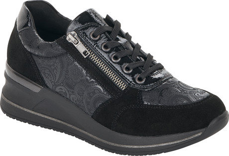 Remonte - BLACK WEDGE LACE UP