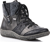 Remonte - BLACK/GREY/BLUE LACE UP BOOT