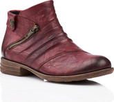 Remonte - BURGUNDY SIDE ZIP BOOT