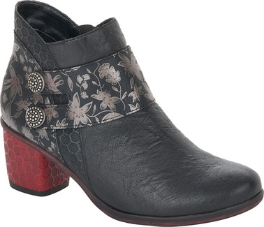 Remonte - BLACK BOOT W/ RED HEEL