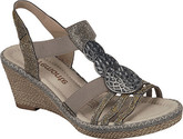 Comfortable and Stylish Remonte Ladies Silver Wedge Shoes