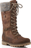 Remonte - BROWN TALL LACE UP BOOT